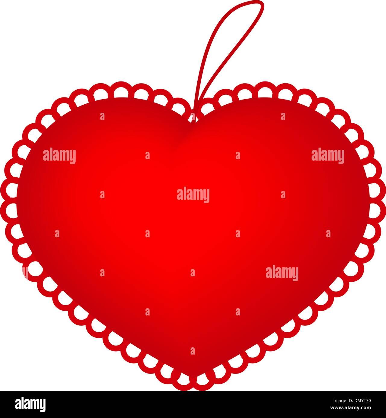 https www alamy com red heart pillow image64535940 html