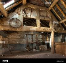 Stone And Timber-frame Oast House Interior Leominster