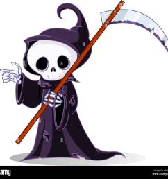 cartoon grim reaper pointing [ 1300 x 1218 Pixel ]