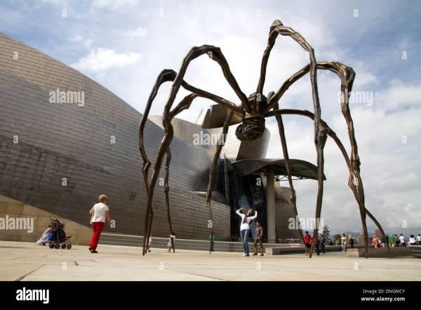 People Visiting Modern Art Bilbao Province Of Biscay