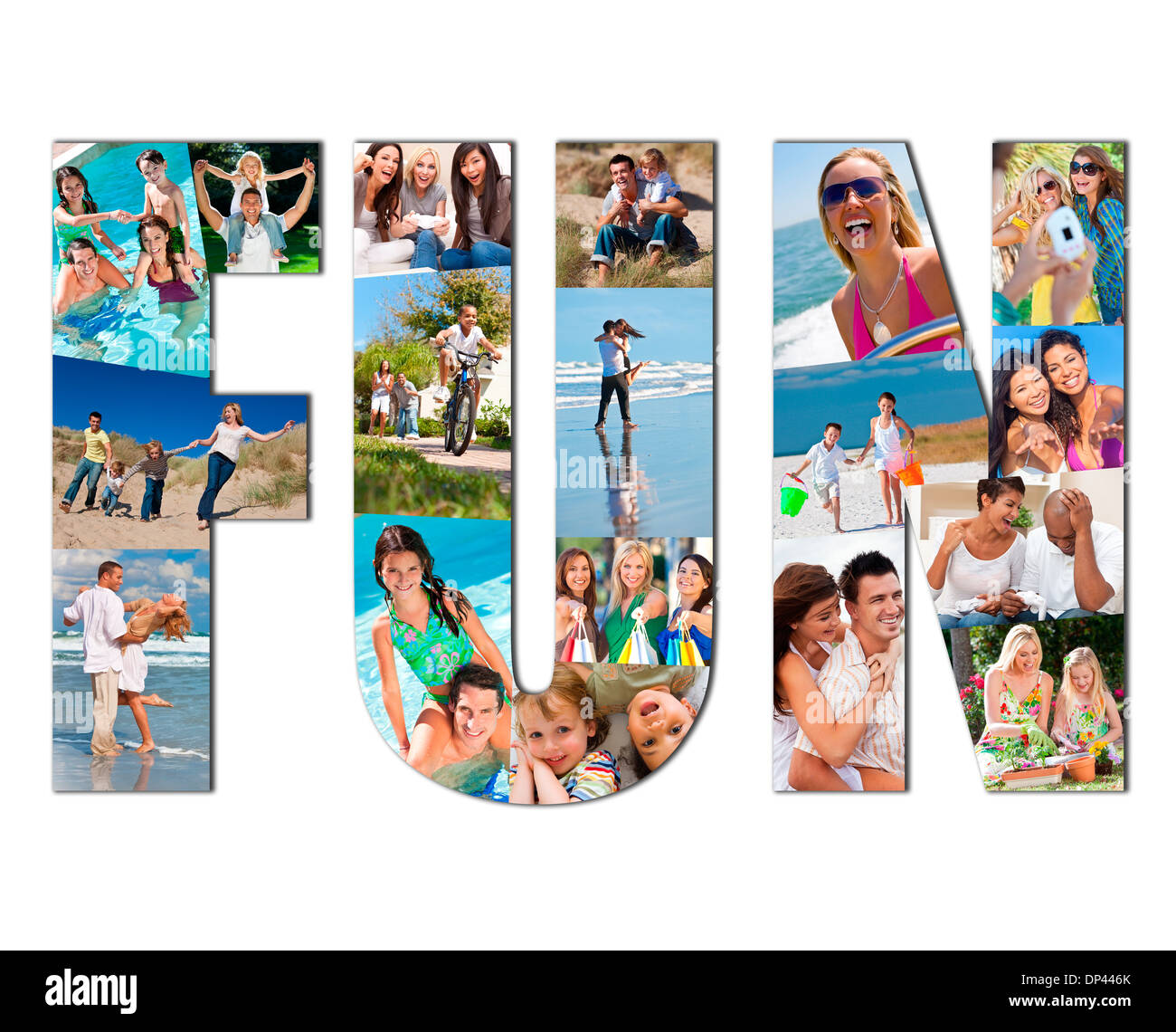 Active People On Vacation Men Women Children Parents Family Having Stock Photo Alamy