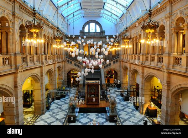 Interior Of Kelvingrove Art And Museum Glasgow