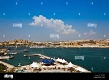 Valletta Waterfront Malta Stock &
