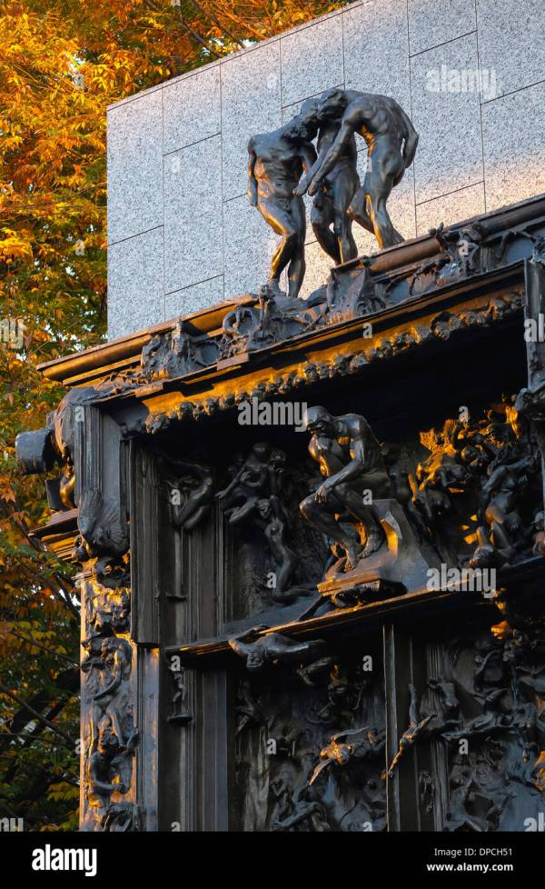 Rodin Gates Of Hell Sculpture Stock & - Alamy