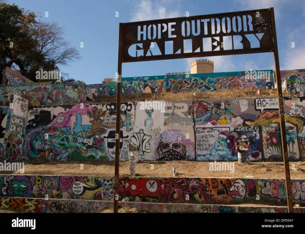 Hope Outdoor - Austin Texas Graffiti Wall Stock