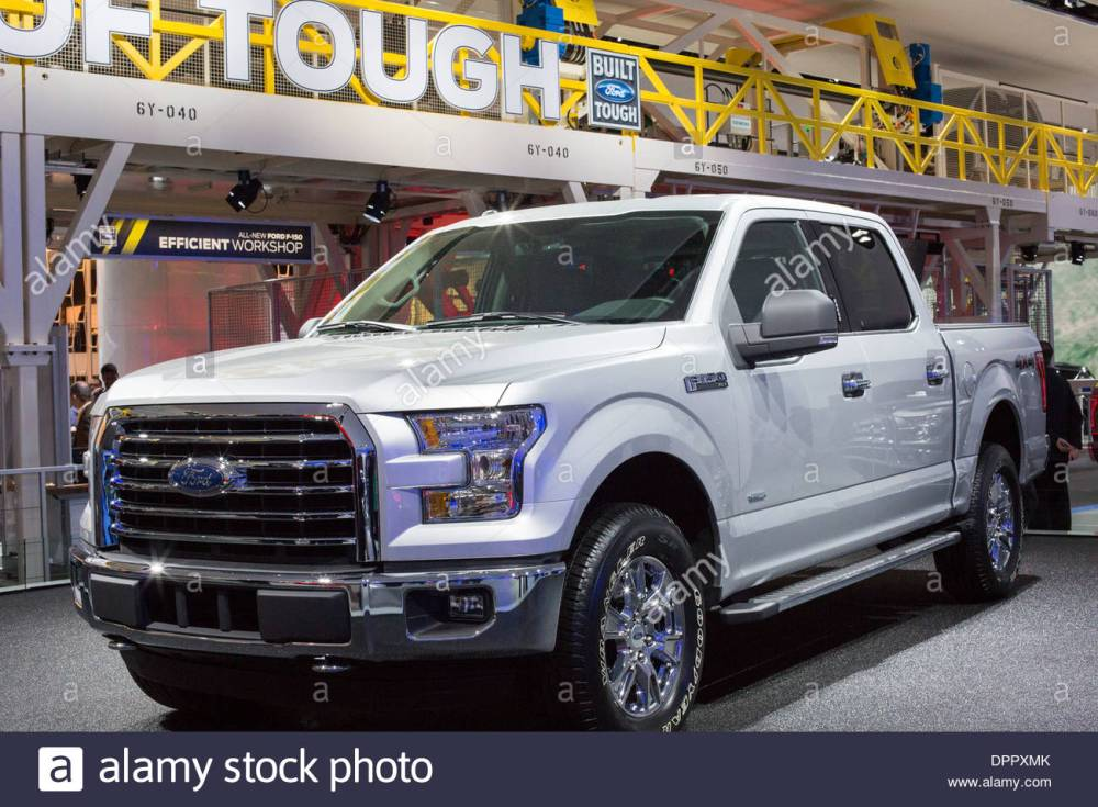 medium resolution of detroit michigan the ford f 150 4x4 pickup truck on display at the north american international auto show
