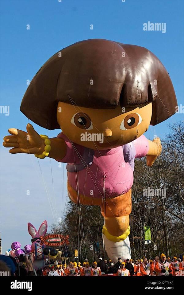 November 27 2008 Dora Explorer Balloon. Macy'