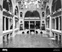 Casino Swimming Pool And Men In Period Swimwear