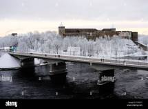 Estonian Russian Border Stock &