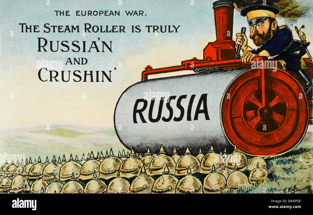 British Cartoon Satirising The First World War Stock Photo