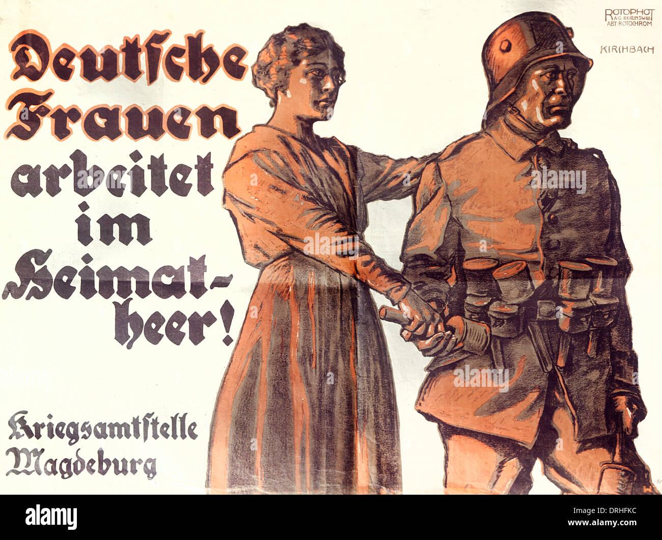 German Propaganda Poster Ww1 Stock Photo