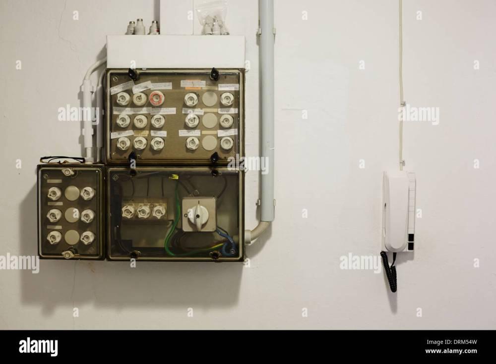 medium resolution of old fuse box stock image