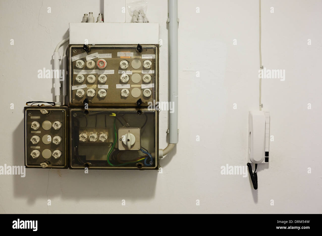 hight resolution of old fuse box stock image