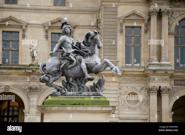 Statue Of Louis Xiv Louvre Museum Paris