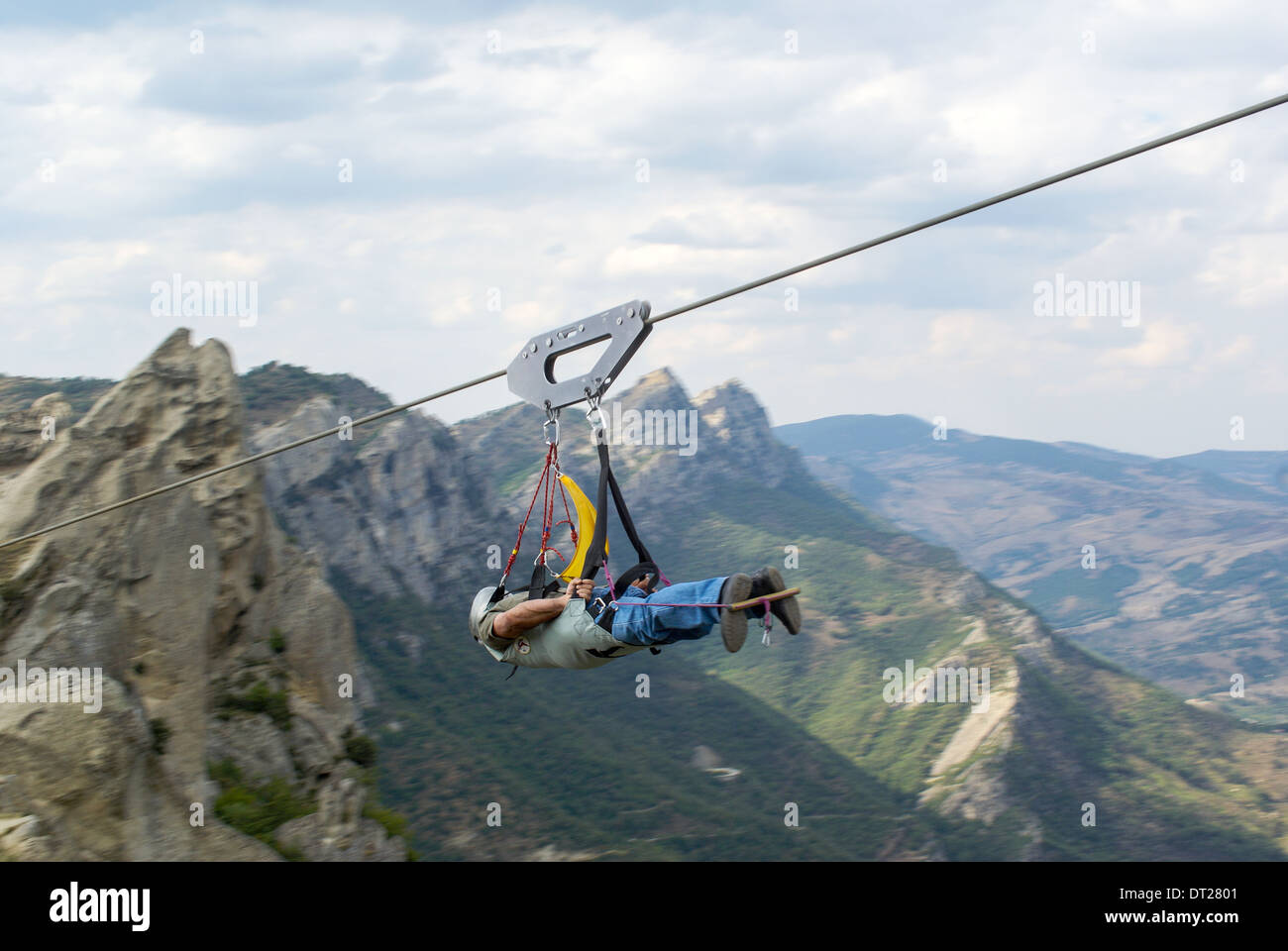 4 man zip wire wales honda monkey bike wiring diagram stock photos images alamy il volo del angelo flying on image