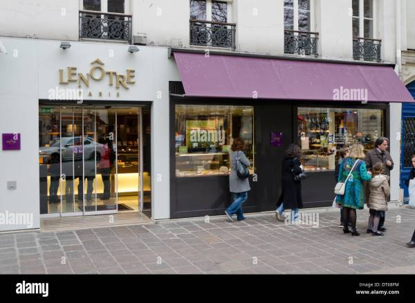 Facade Lenotre Upscale Bakery Store Chocolate Pastries