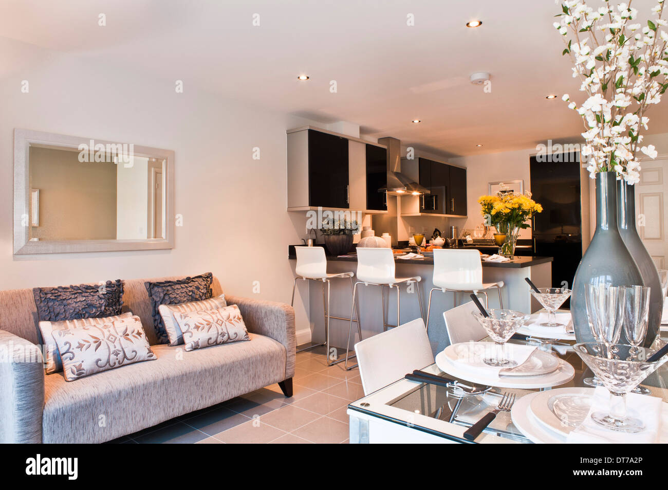 sofa in the kitchen home theater show diner with stock photo 66544430