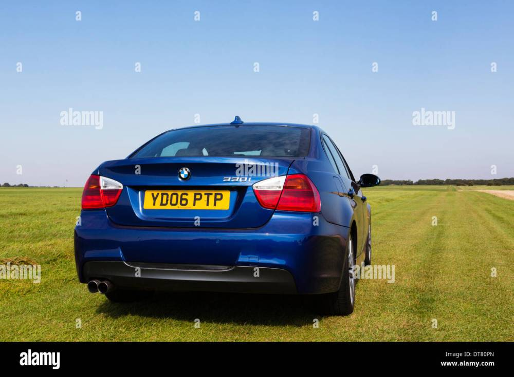 medium resolution of 2006 bmw 330i in le mans blue stock image