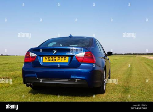 small resolution of 2006 bmw 330i in le mans blue stock image