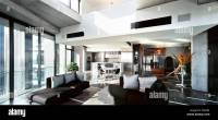 Luxury open plan apartment interior at the Republic Tower ...