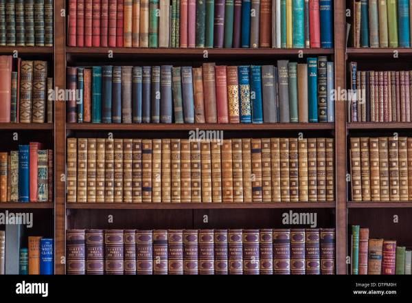 Old Books On Bookshelves