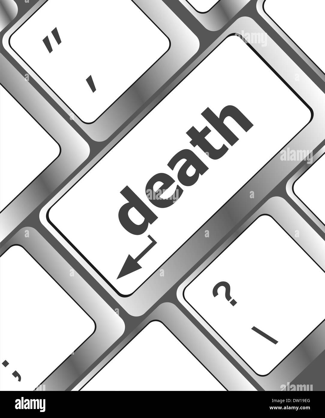 keyboard with death word