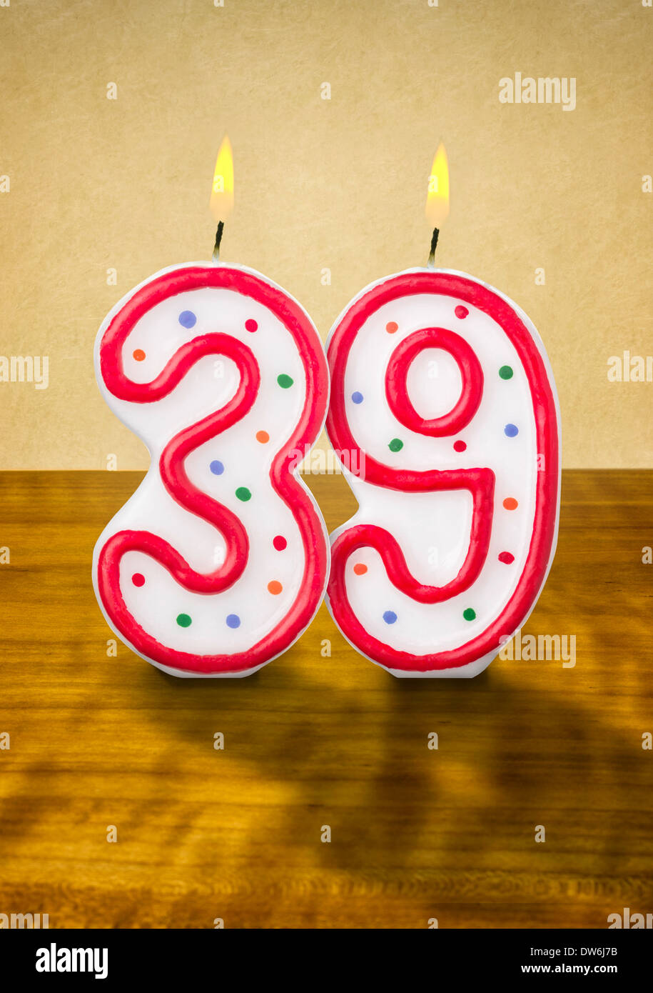 Happy 39th Birthday Stock Photos & Happy 39th Birthday