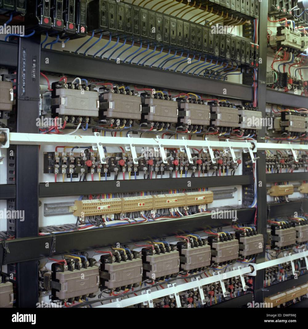 medium resolution of factory electrical control cabinet detail stock image