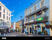 Shops And Tenby House Pub St Julian' Street In
