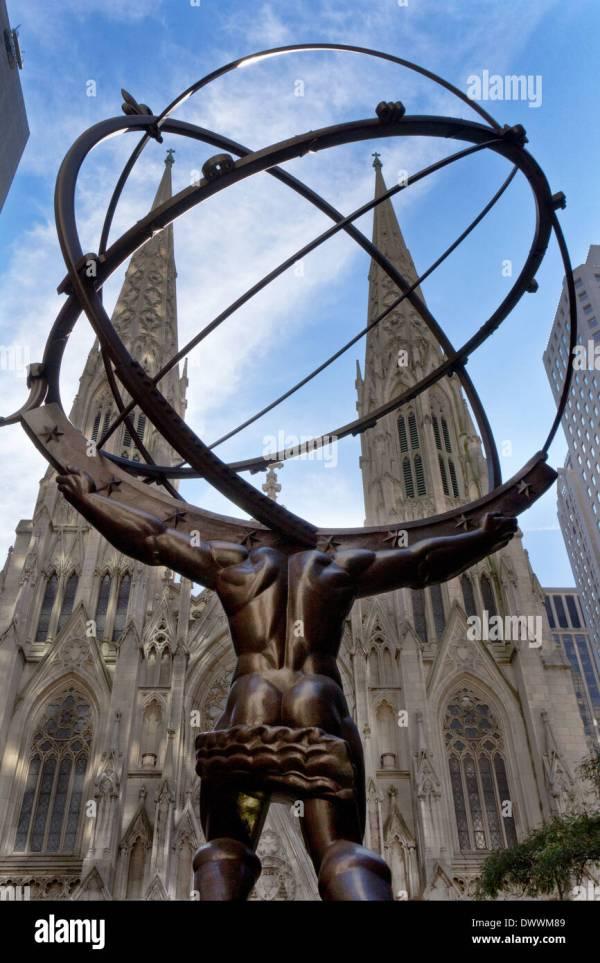 Atlas Statue Stock & - Alamy
