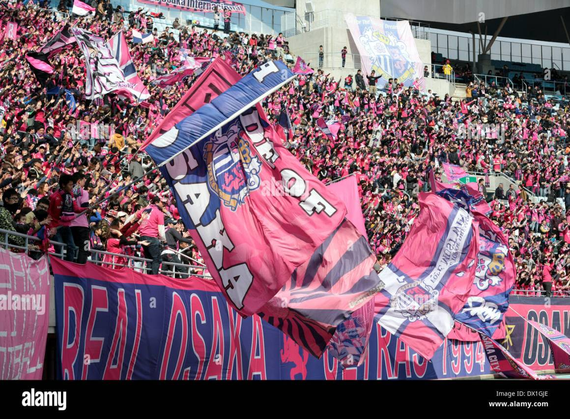 Osaka, Japan. 15th Mar, 2014. Cerezo Osaka fans Football/Soccer Stock Photo  - Alamy