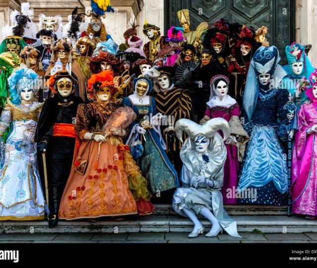 People In Costume Venice Carnival Venice Italy