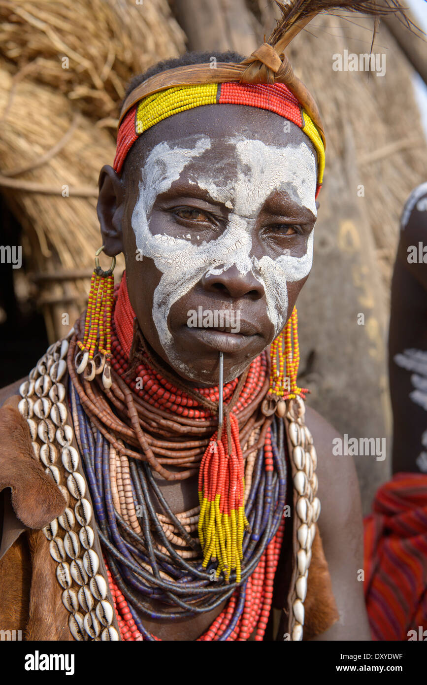 African Tribal Face Paint : african, tribal, paint, African, Tribal, Woman, Paint, Resolution, Stock, Photography, Images, Alamy