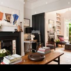 Living Room Fireplaces Pictures Beach Design Rooms View Of With Double Doors And Two Stock Photo