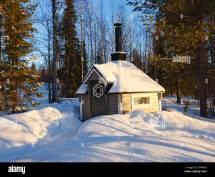 Winter Finland Sauna
