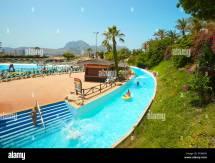 Aqualandia Waterpark. Benidorm. Alicante. Spain Stock