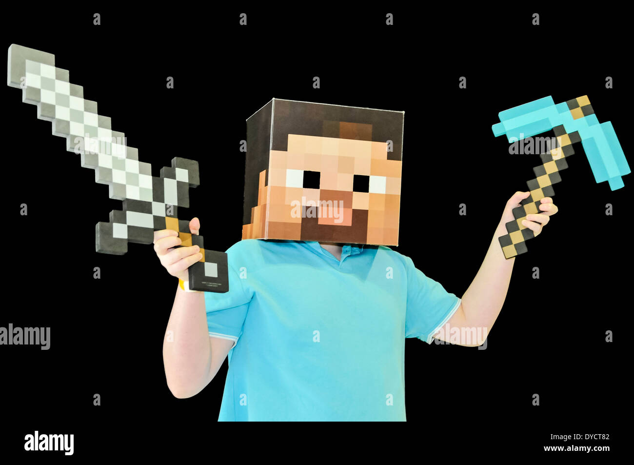 minecraft steve with an