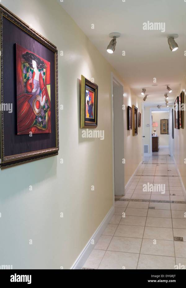 Residential Hallway Art Usa Stock Royalty