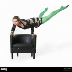 Handstand Chair Strong Back Canada Circus Woman Stock Photos And