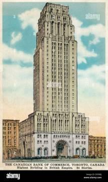 Vintage Postcard Of Canadian Bank Commerce Building