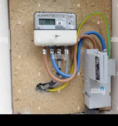 electric meter box stock photos electric meter box stock images house power meter box wiring [ 1300 x 956 Pixel ]
