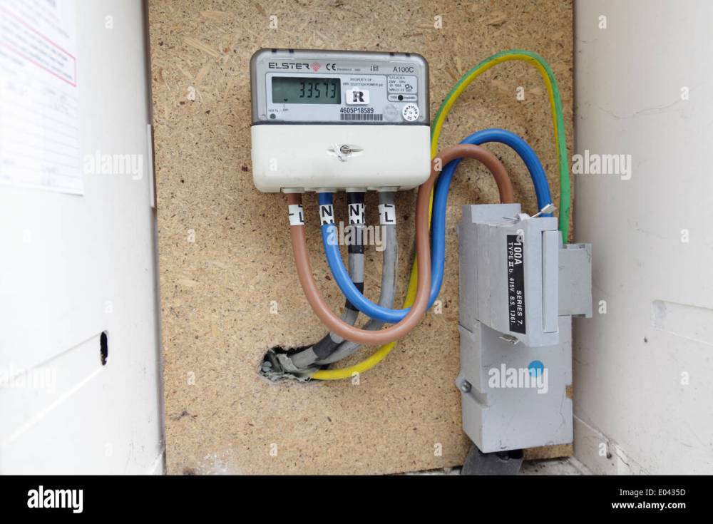 medium resolution of electric meter box stock photos electric meter box stock images house power meter box wiring