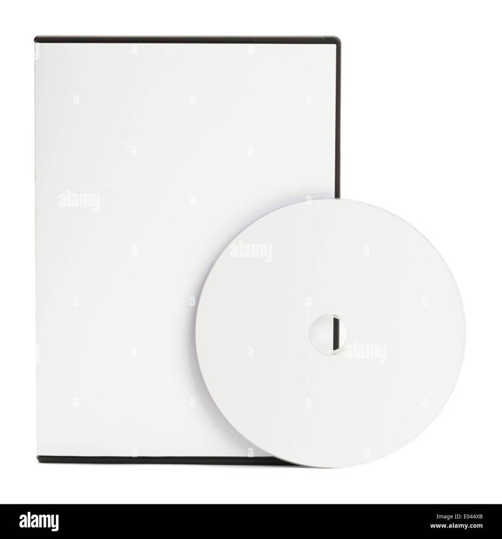 medium resolution of blank white dvd case with blank disc isolated on white background stock image