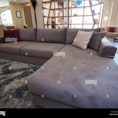 Large Corner Sofa In Small Living Room Dining Combo L Shaped Furniture Show Home Stock