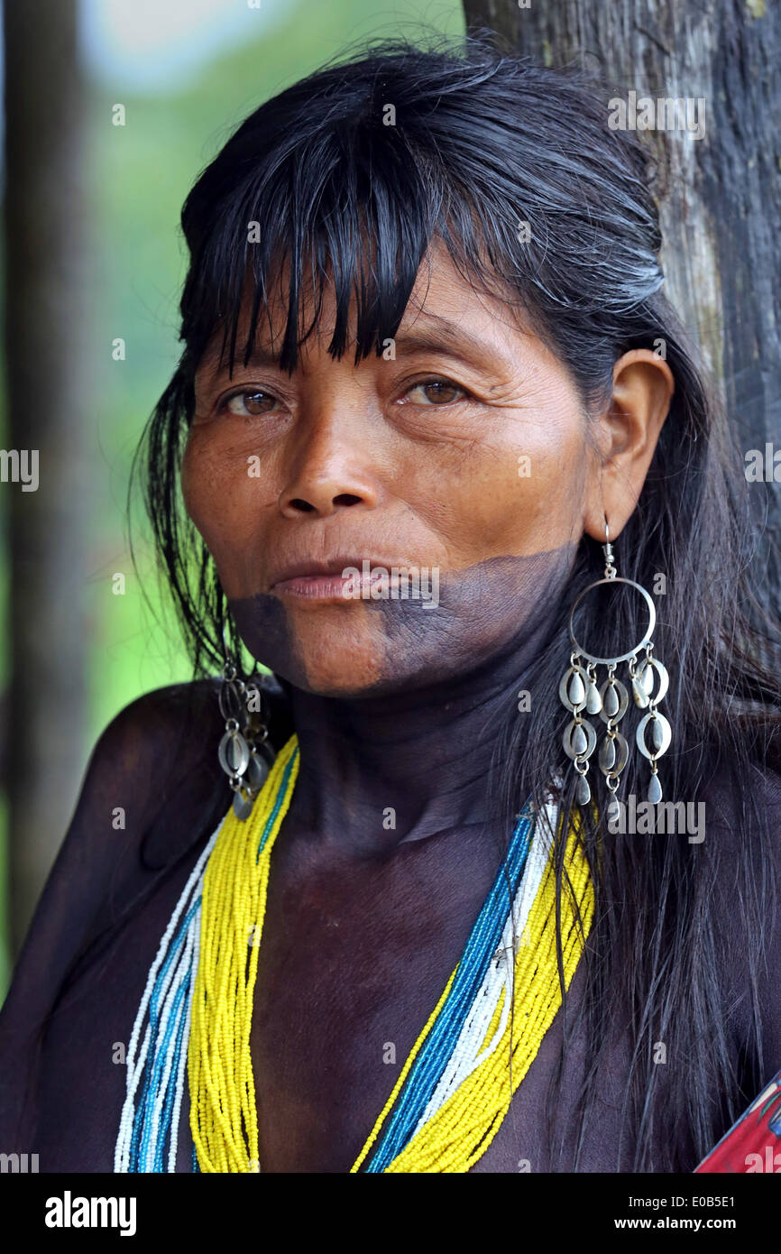 Tribal Face Tatto : tribal, tatto, Tribal, Tattoo, Woman, Resolution, Stock, Photography, Images, Alamy
