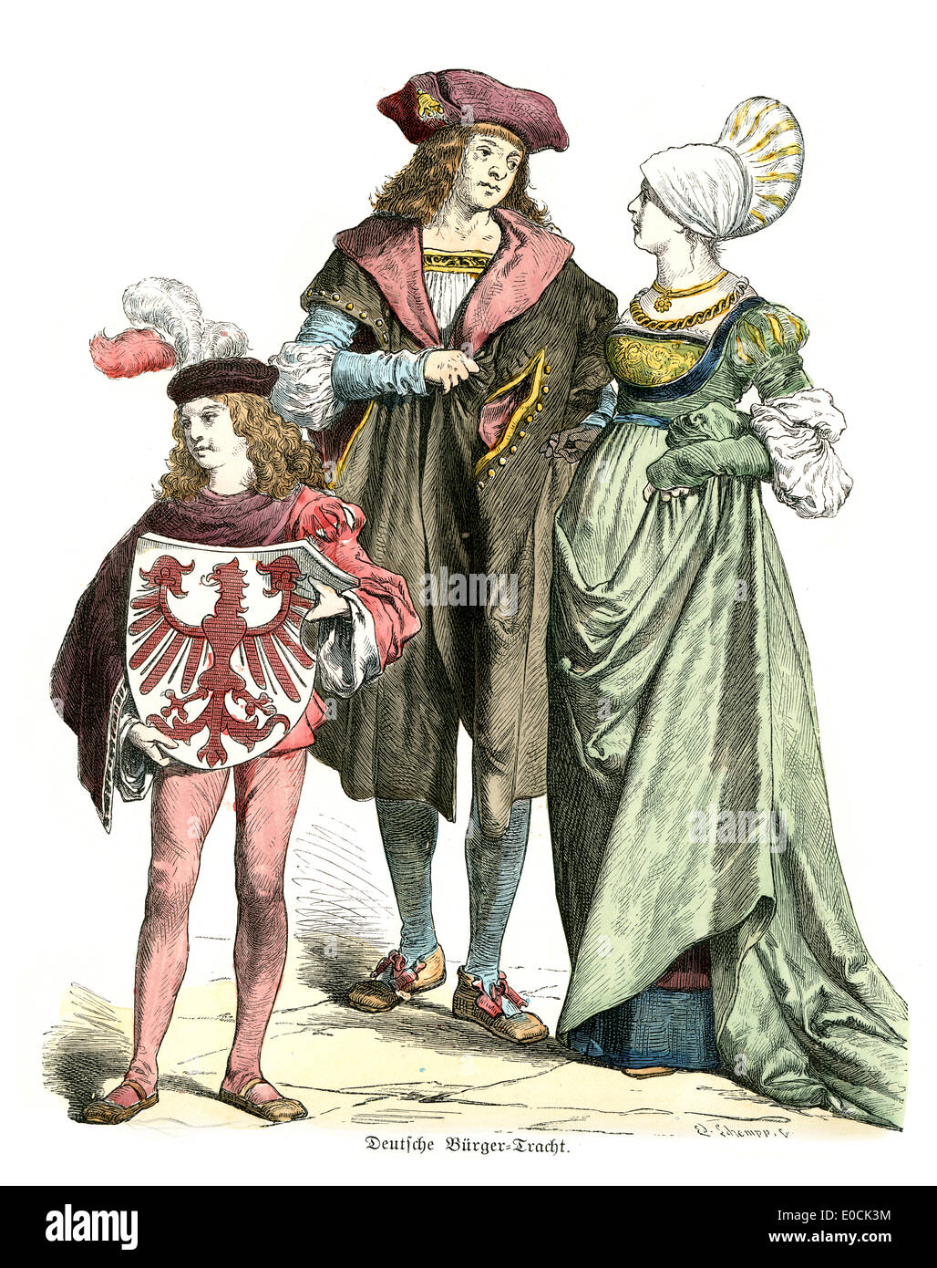 Traditional Costumes Of Germany In The 16th Century Noble