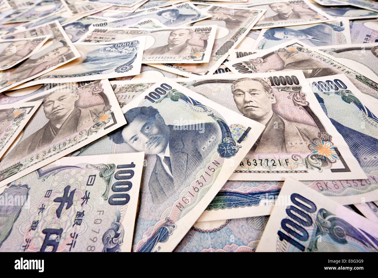 A Lot Of Japanese Money Notes The Yen Currency Viele