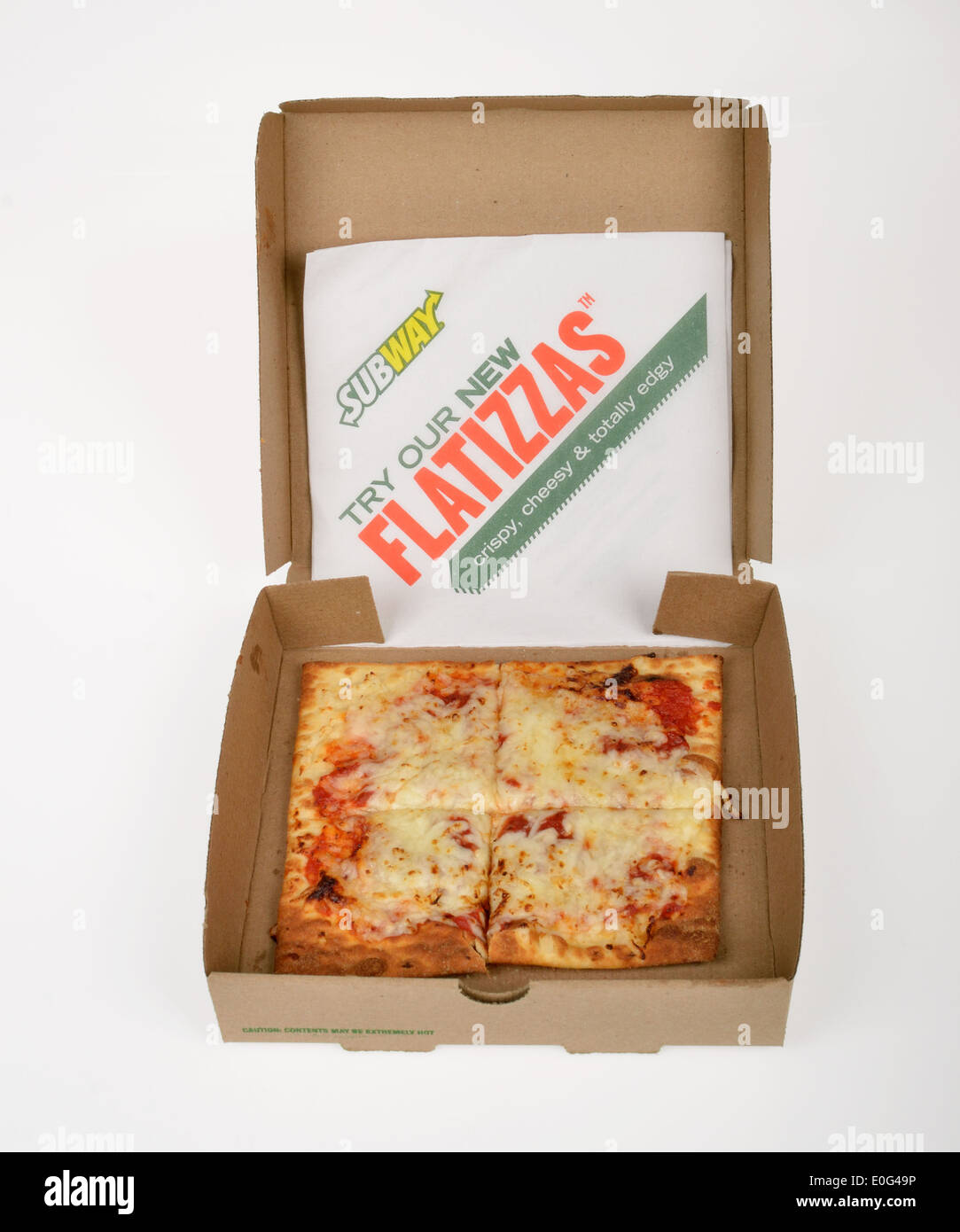 subway flatizza cheese square