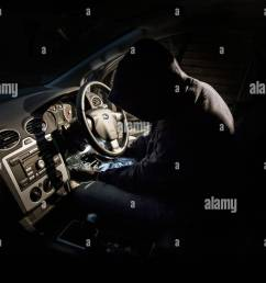 thief hot wiring a car stock image [ 1300 x 956 Pixel ]