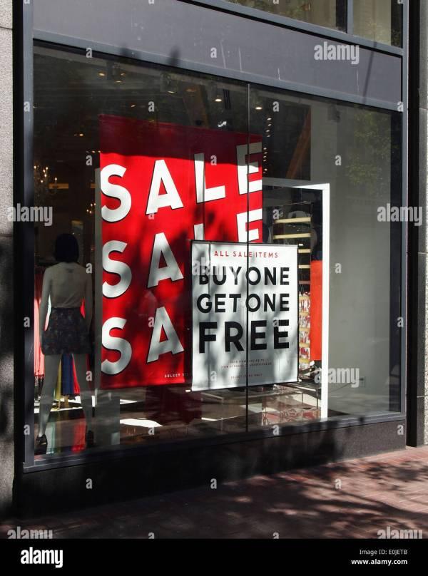 Retail Signs Window Stock & - Alamy